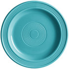 Acopa Capri 7 inch Caribbean Turquoise China Plate - 24/Case