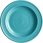 Acopa Capri 6 1/8 inch Caribbean Turquoise China Plate - 24/Case