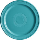 Acopa Capri 10 inch Caribbean Turquoise China Plate   - 12/Case