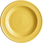 Acopa Capri 6 1/8 inch Citrus Yellow China Plate - 24/Case