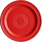 Acopa Capri 9 inch Passion Fruit Red China Plate - 12/Case