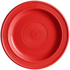 Acopa Capri 7 inch Passion Fruit Red China Plate - 12/Pack