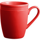 Acopa Capri 12 oz. Passion Fruit Red China Mug - 24/Case