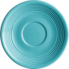 Acopa Capri 6 inch Caribbean Turquoise China Saucer - 36/Case