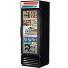 True GDM-19T-F-LD Black Glass Door Merchandiser Freezer with LED Lighting