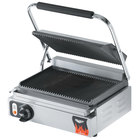 Vollrath 40794 Grooved Top & Bottom Panini Sandwich Grill - 16 1/8 inch x 9 5/8 inch Cooking Surface - 120V, 1800W