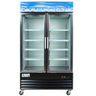 "Avantco GDC40 48"" Swing Glass Door Black Merchandiser Refrigerator with LED Lighting"