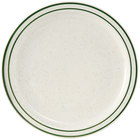 Tuxton TES-008 9 inch Narrow Rim Green Speckle Emerald China Plate 24/Case