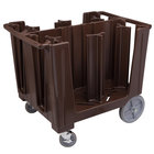 Cambro ADCS131 Dark Brown S Series Adjustable Dish Caddy with Vinyl Cover - 6 Column