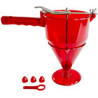 Fat Daddio's CF-01 1 Liter Polycarbonate Confectionery Funnel Dispenser with 3-Piece Nozzle Set and Stand