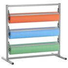Bulman T343R-30 30 inch Three Deck Tower Paper Rack with Serrated Blade