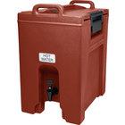 Cambro UC1000402 Ultra Camtainer 10.5 Gallon Brick Red Insulated Beverage Dispenser