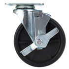 Avantco SPC5B 5 inch Replacement Swivel Plate Caster with Brake for Avantco FF300, FF400, FF518 and Frymaster / Dean Floor Fryers