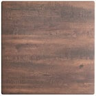 Lancaster Table & Seating Excalibur 24 inch x 24 inch Square Table Top with Textured Walnut Finish
