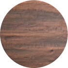 Lancaster Table & Seating Excalibur 36 inch Round Table Top with Textured Walnut Finish