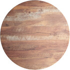 Lancaster Table & Seating Excalibur 24 inch Round Table Top with Textured Yukon Oak Finish