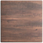 Lancaster Table & Seating Excalibur 36 inch x 36 inch Square Table Top with Textured Walnut Finish