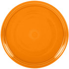 Homer Laughlin 505325 Fiesta Tangerine 15 inch China Pizza / Baking Tray   - 4/Case