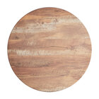 Lancaster Table & Seating Excalibur 36 inch Round Table Top with Textured Yukon Oak Finish