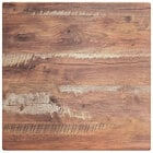 Lancaster Table & Seating Excalibur 24 inch x 24 inch Square Table Top with Textured Yukon Oak Finish