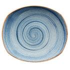 Corona by GET Enterprises PP1604722912 Artisan 12 inch Blue Oval Porcelain Coupe Plate - 12/Case