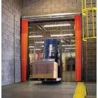 Curtron QSD-12-67-UM-120X120 120 inchW x 120 inchH PVC Strip Door - Standard Grade