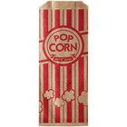 Carnival King 3 inch x 1 1/2 inch x 7 inch 0.6 oz. Kraft Popcorn Bag - 1000/Case
