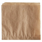 Choice 5 inch x 5 inch Natural Kraft Double Open Bag - 2000/Case