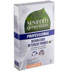 Seventh Generation 44736 Professional Free & Clear 75 oz. Dishwasher Detergent Powder - 8/Case
