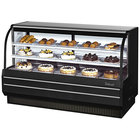 Turbo Air TCGB-72-B-N Black 72 inch Curved Glass Refrigerated Bakery Display Case
