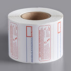Choice 2 5/16 inch x 1 9/10 inch Safe Handling Pre-Printed Permanent Direct Thermal Label - 500/Roll