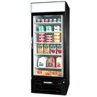 Beverage-Air MMR23HC-1-BS-IQ MarketMax 27 inch Black Glass Door Merchandiser with Stainless Steel Interior and Electronic Smart Door Lock