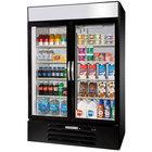 Beverage-Air MMR49HC-1-BS-IQ MarketMax 52 inch Black Glass Door Merchandiser with Stainless Steel Interior and Electronic Smart Door Lock
