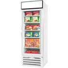 Beverage-Air MMF27HC-1-WB-IQ MarketMax 30 inch White Glass Door Merchandiser with Black Interior and Electronic Smart Door Lock