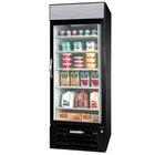 Beverage-Air MMR23HC-1-BB-IQ-18 MarketMax 27 inch Black Glass Door Merchandiser with Black Interior, Left-Hinged Door, and Electronic Smart Door Lock