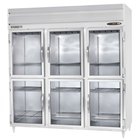 Beverage Air PRD3-1BHG-LED 3 Section Glass Half Door Pass-Through Refrigerator - 79 cu. ft., Stainless Steel