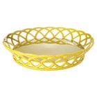 GET RB-860-TY Tropical Yellow Round 10 1/2 inch Plastic Fast Food Basket - 12/Pack