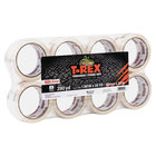 T-Rex 285723 1 7/8 inch x 35 Yards Clear Packaging Tape Roll - 8/Pack