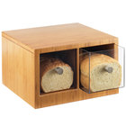 Cal-Mil 1337-60 Bamboo Two Drawer Bread Bin - 14 inch x 13 1/2 inch x 5 3/4 inch