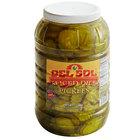 Del Sol 1 Gallon Sliced Dill Pickle Chips - 4/Case