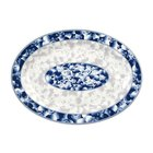 Thunder Group 2009DL Blue Dragon 9 inch x 6 5/8 inch Oval Melamine Platter - 12/Pack