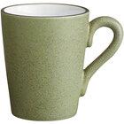 Acopa Embers 12 oz. Moss Green Matte Stoneware Mug - 24/Case