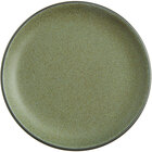 Acopa Embers 7 1/2 inch Moss Green Matte Coupe Stoneware Plate - 24/Case