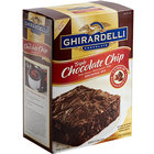 Ghirardelli 7.5 lb. Triple Chocolate Chip Brownie Mix   - 4/Case