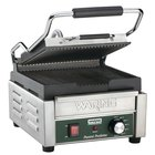 Waring WPG150 9 3/4 inch x 9 1 /4 inch Panini Perfetto Grooved Top & Bottom Panini Sandwich Grill 120V