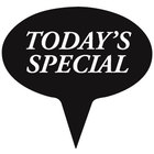 Oval Deli Sign Spear - TODAY'S SPECIAL - Black