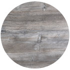 BFM Seating TRN32RDW Tribeca 32 inch Round Driftwood Composite Laminate Outdoor Table Top with Knife Edge