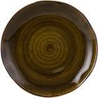 Tuxton GGW-006 TuxTrendz Artisan Geode Walnut 10 1/4 inch China Plate - 12/Case