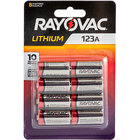 Rayovac RL123A-8TG 123A Lithium Photo Batteries - 8/Pack