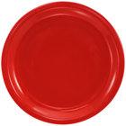 International Tableware CAN-9-CR Cancun 9 1/2 inch Crimson Red Stoneware Rolled Edge Narrow Rim Plate - 24/Case